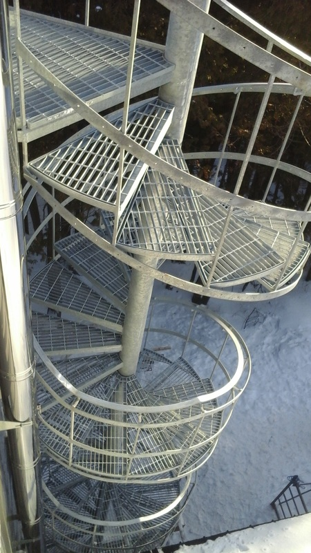 Spiral Stair from Roof