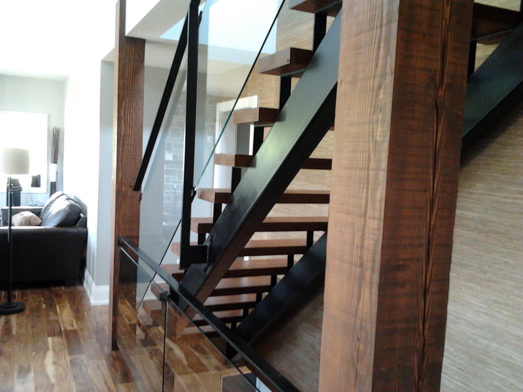 Custom tubular steel stair